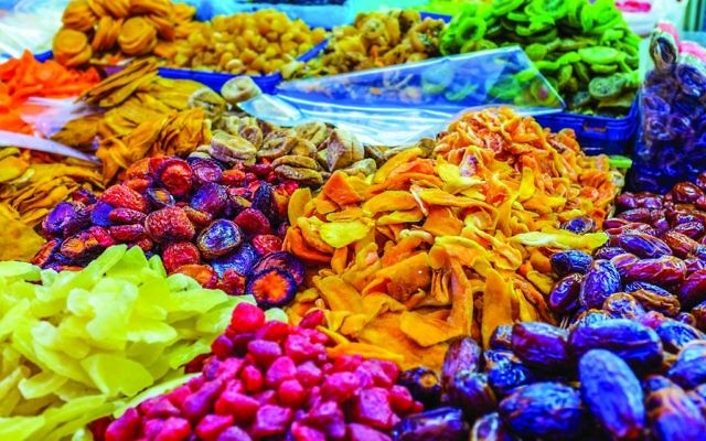 Tel Aviv's markets are full of fresh produce, including a vast array of dried fruits