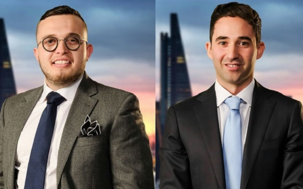Charles Burns and Elliot Van Emden are among this year's candidates on The Apprentice