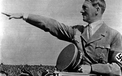 Adolf Hitler performing a Nazi salute   Photo credit: PA/PA Wire