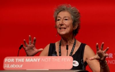 Naomi Wimborne-Idrissi of Jewish Voice for Labour, at the party's annual conference in 2017 Photo credit: Gareth Fuller/PA Wire