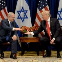 Prime Minister Benjamin Netanyahu meets with US President Donald Trump,    Photo by Avi Ohayon/GPO via JINIPIX