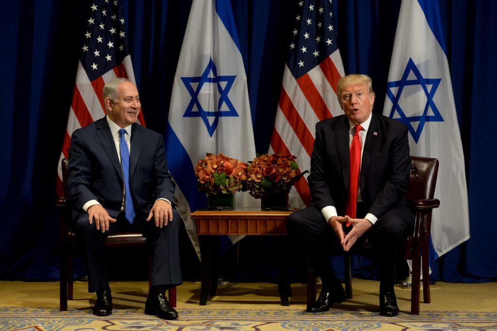 Prime Minister Benjamin Netanyahu meets with US President Donald Trump, in New York Photo by Avi Ohayon/GPO via JINIPIX