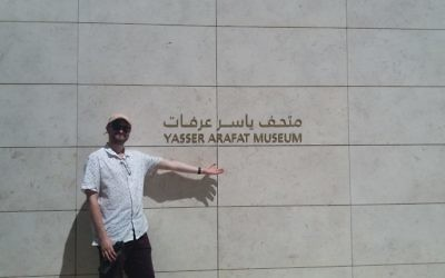 Izzy Posen at the Yassir Arafat Museum in Ramallah.