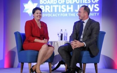 Ruth Davidson in conversation with the BBC's Director of News and Current Affairs James Harding