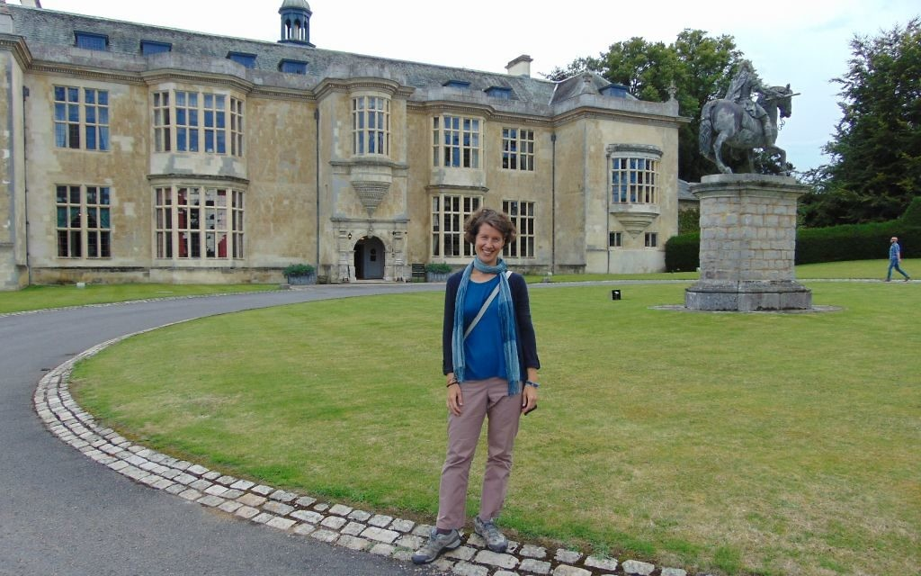 Zuzana in the grounds of Hartwell House Hotel, where a night starts from £250 pp/pn