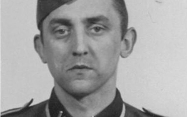 Hubert Zafke in his Nazi uniform