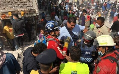 ZAKA emergency responders in Mexico following the deadly quake