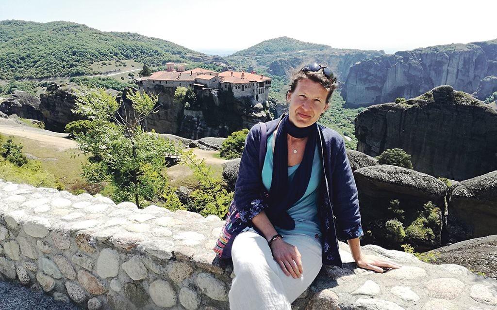 Zuzana enjoys the Greek sunshine.