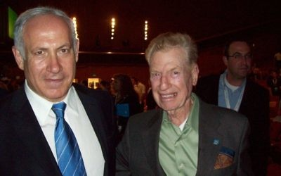 Benjamin Netanyahu with Mitchell Flint