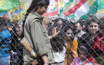 Kurdish PKK guerilla in Qandil, Iraq