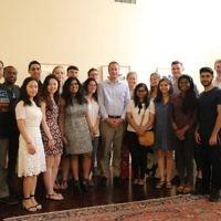 Let's Talk Business group with Ambassador David Quarrey at his residence in Tel Aviv