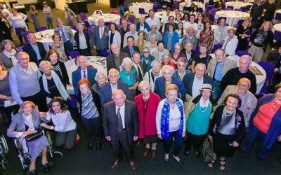 100 survivors together    Photo credit: Yakir Zur