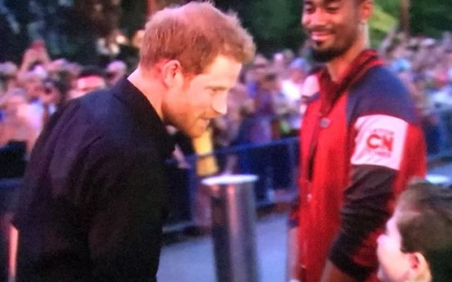 Rio meeting Prince Harry for a third time