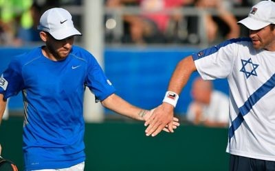 Dudi Sela and Jonathan Erlich lost their doubles match