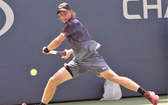 Denis Shapovalov was knocked out in the fourth round at the US Open on Sunday evening