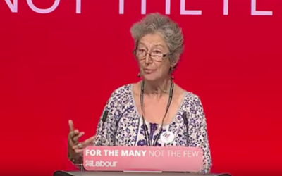 Naomi Wimborne-Idrissi speaking at Labour conference 2017