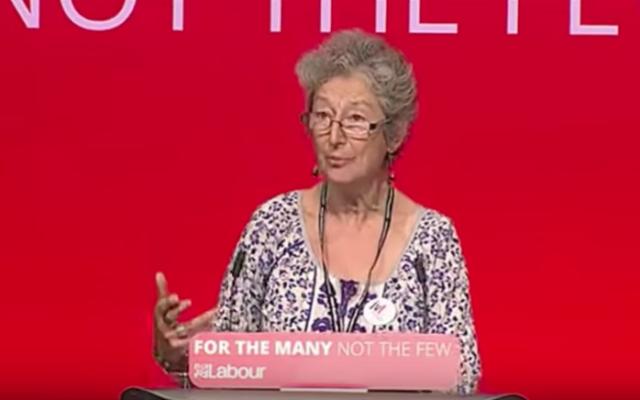 Naomi Wimborne-Idrissi speaking at Labour conference 2017