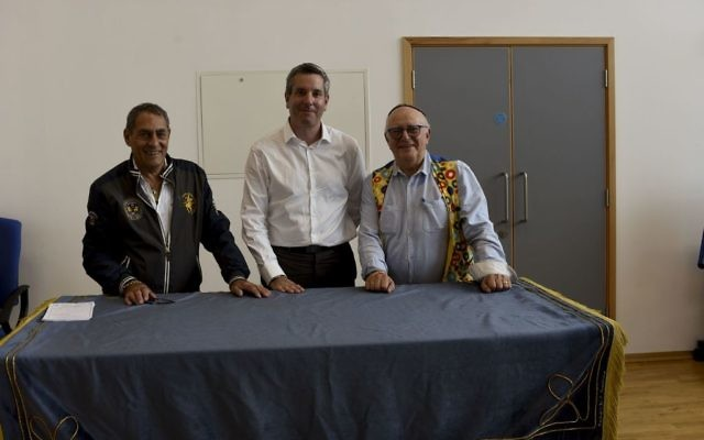 From left-right: Ellis Slater, lay leader, James Ward and Adrian Korsner