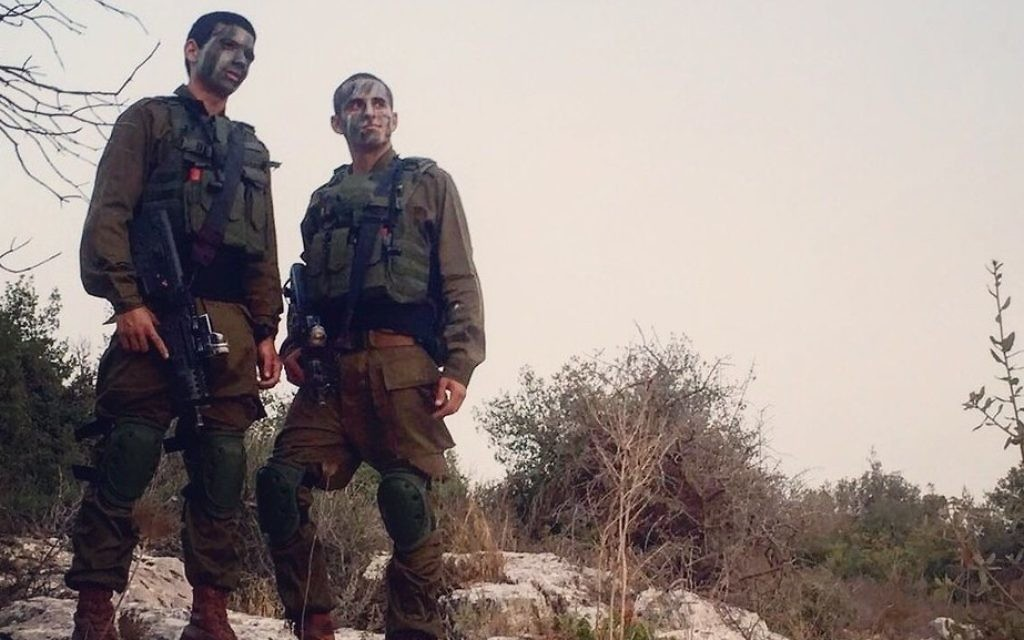 Brothers in arms: Oren Ivgi, Maor Shevah and Stephen Epstein agree that life in the Israeli army suits them down to the ground