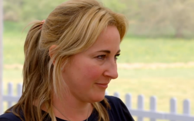 Stacey Hart on the Great British Bake Off on episode 2