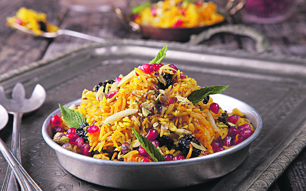 Syrian carrot and raisin salad
