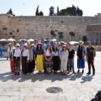 The Real Deal group participants on Masada 3