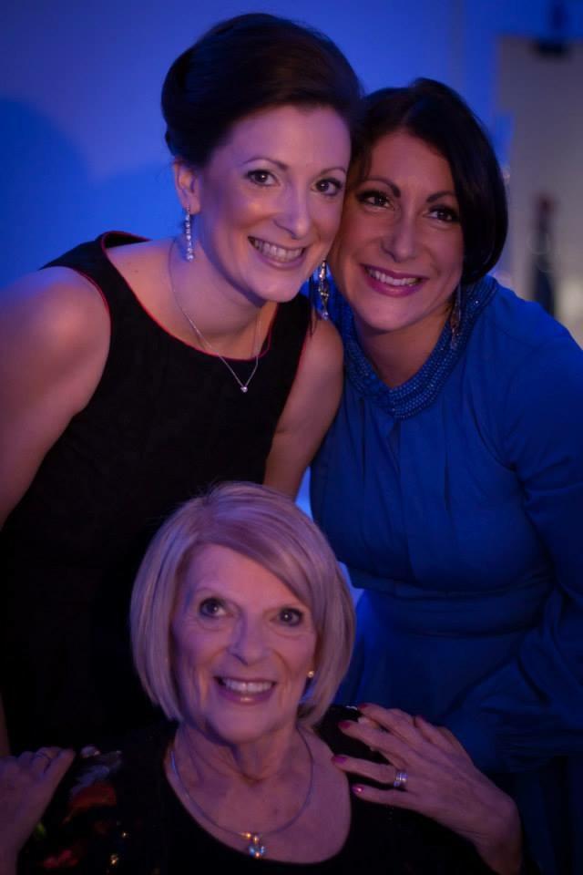 Karen (left), Suzy (right) with their mother Rhona Kemp below