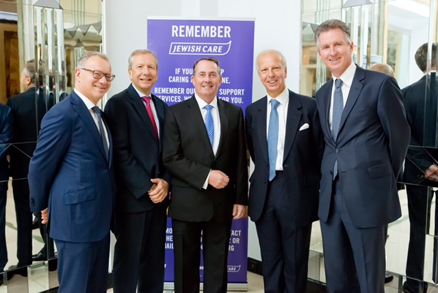 Left to right: Steven Lewis, Stephen Zimmerman, Rt Hon Dr Liam Fox MP, Lord Howard Leigh, Mark Laurence