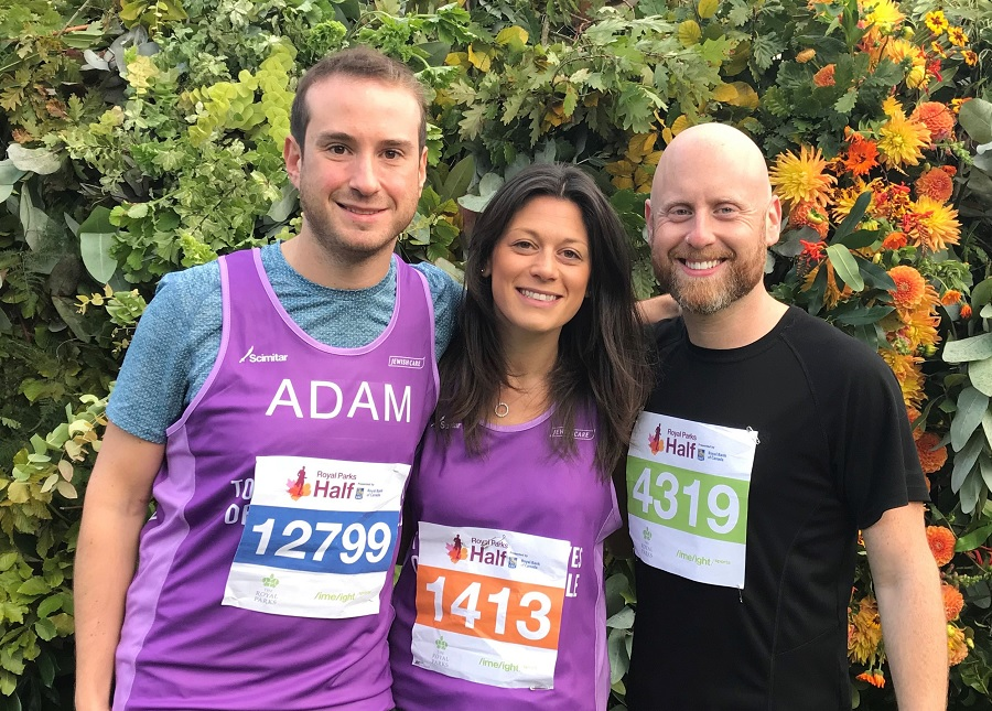 Adam Reed, Stacey Jaffe and Blake Ezra took part for Jewish Care