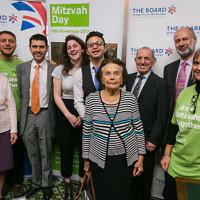 Alex Sobel MP, Fabian Hamilton MP, Holocaust survivors and former Leeds students  Credit: Yakir Zur