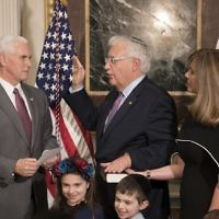 David Friedman being sworn in by Vice President Mike Pence