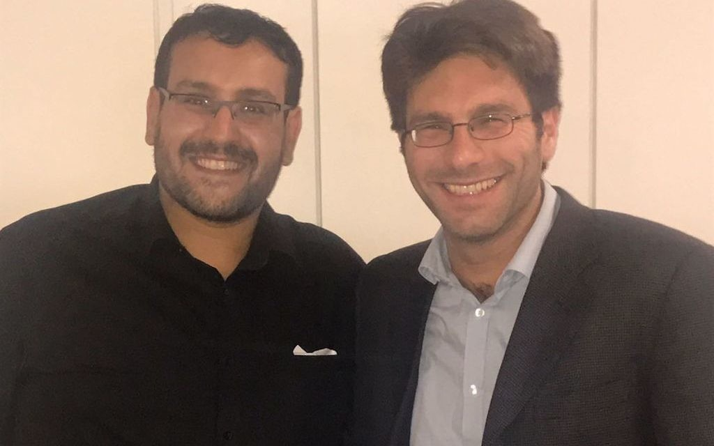 Mustafa Field (left)  and Rabbi Natan Levy (right), of the Faiths Forum for London.