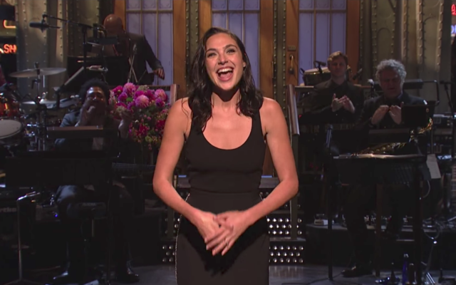 Gal Gadot introducing Saturday Night Live
