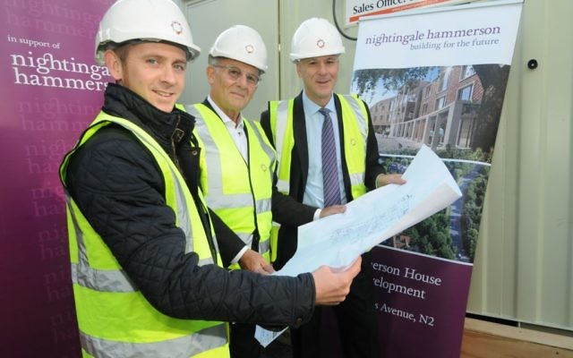 Builders at Hammerson House as the first stage redevelopment begins
