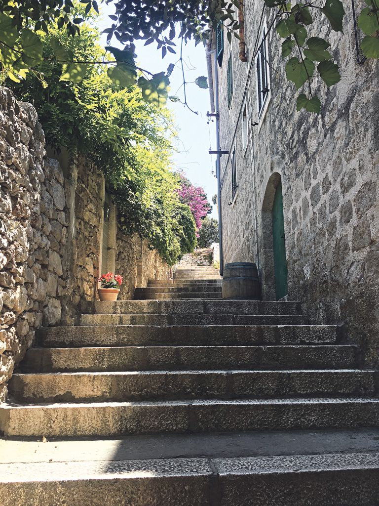 The backstreets of Hvar Old Town