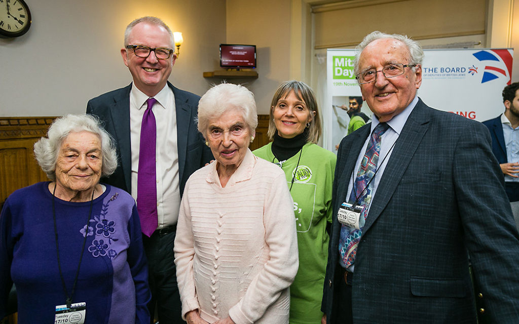 Ian Austin MP with survivors - picture by Yakir Zur