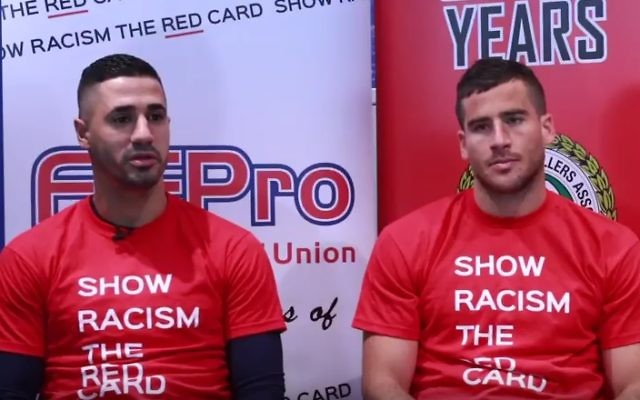 Beram Kayal and Tomer Hemed discuss their friendship in a video for Show Racism the Red Card