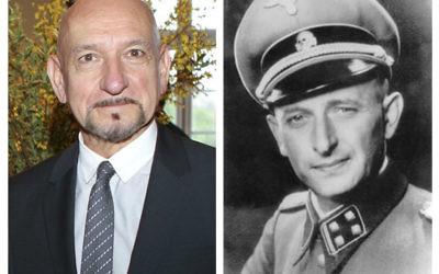 Sir Ben Kingsley (left) and notorious Nazi Adolf Eichmann