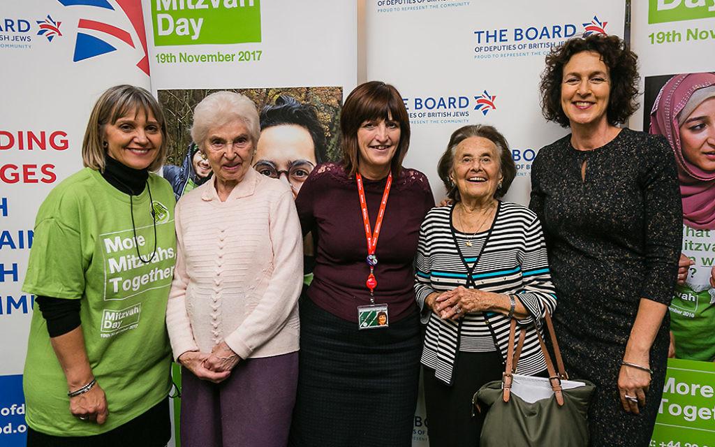 Karen Lee MP with Laura Marks, Gillian Merron and Holocaust survivors - picture by Yakir Zur