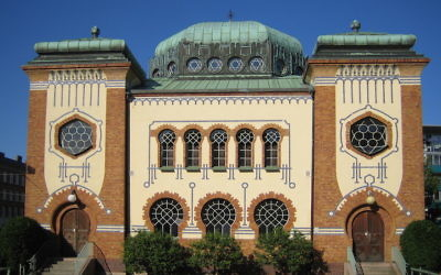 Malmö Synagogue in Sweden is home to one of the country's small Jewish communities