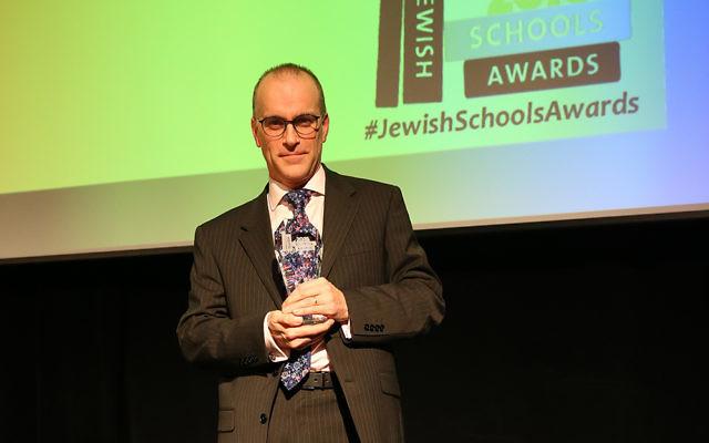 Patrick Moriarty at the Jewish Schools Awards 2016