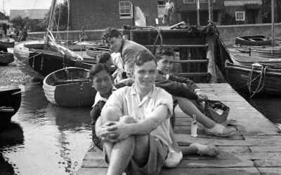 Turing at Bosham in 1939 with two Jewish refugee boys he rescued from Nazi Germany   (Rex Shutterstock)