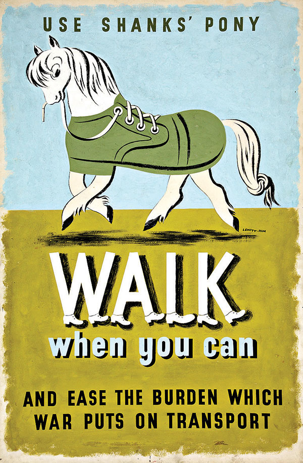 Walk when you can poster by Jan Le Witt and George Him