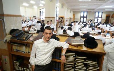 Yishai Rose at the Gateshead Yeshiva on Sept. 5, 2017. Credit: Cnaan Liphshiz