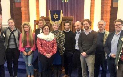 Representatives of Board of Deputies, Leeds GATE, Rene Cassin and Leeds Jewish Representative Council at United Hebrew Congregation, Leeds