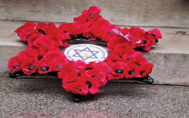 Those attending the AJEX Parade remember the fallen Jewish soldiers