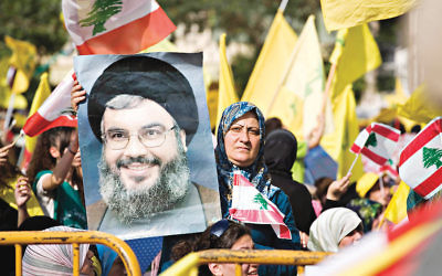 Hezbollah supporters in Beruit