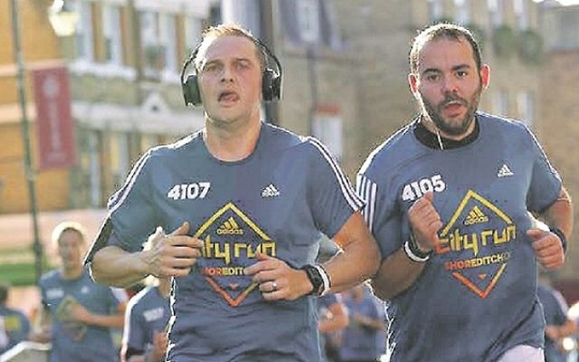 David Blitz and Matt Martin are two of the six dads who are taking part in next month's 'Menorah Marathon'