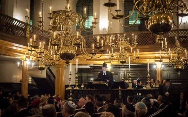 """Lord Rothschild was hailed for """"inspiring"""" nationwide events marking the centenary of the Balfour Declaration at Bevis Marks Synagogue. Picture: Blake Ezra"""