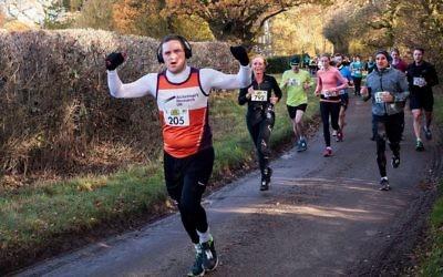 David Blitz competing at last weekend's Hertfordshire Half Marathon